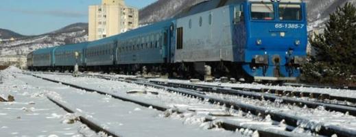Circulaţia feroviară este închisă în centrul țării. 6 trenuri sunt blocate pe traseu