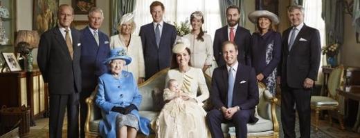 Fotografie istorică: Regina Elisabeta a II-a împreună cu trei generaţii