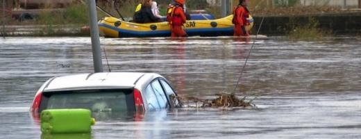 Ciclonul Cleopatra devastează insula Sardinia