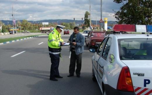 Peste O MIE de șoferi, amendați la Cluj într-o săptămână