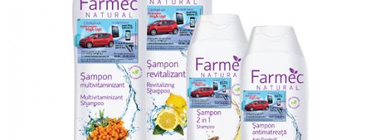 Farmec Natural primește în rândurile sale cinci noi sortimente de șampoane