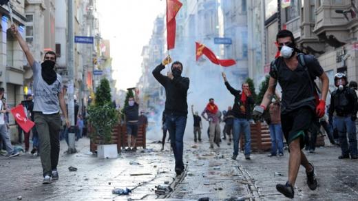 Proteste în Istambul. Foto: theguardian.com