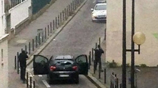 Atacul armat de la Charlie Hebdo din Paris. Sursă foto:  The independent