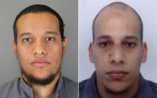 Said Kouachi (stânga) și Cherif Kouachi (dreapta), atacatorii de la Charlie Hebdo. Sursă foto: The Telegraph