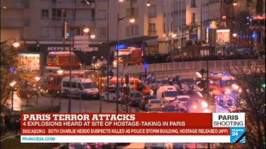 luare de ostatici într-un magazin din  la Vincennes,  o zonă situată la periferia estică a Parisului. Sursă foto: www.bfmtv.com