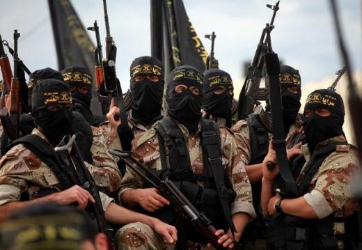 Soldati ai grupării Satatul Islamic. Sursă foto: B1 TV