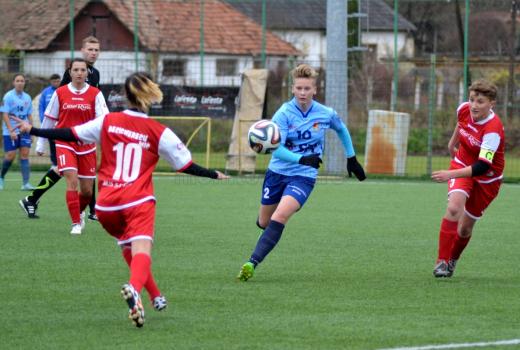 Loredana Popa, jucătoare Olimpia 2 Cluj, cea mai bună marcatoare din Liga 1 în acest sezon - FOTO: Dan Porcuțan