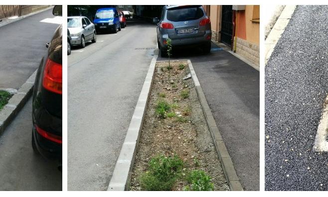 Străzi modernizate, fără spații verzi și copaci