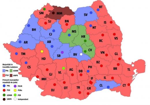 Cum au votat românii, pe regiuni