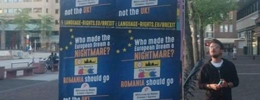 În oraşul Eindhoven din Olanda au apărut mai multe afişe cu mesaje xenofobe.