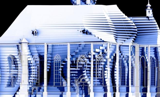 Proiectie pe Biserica Sf. Mihail