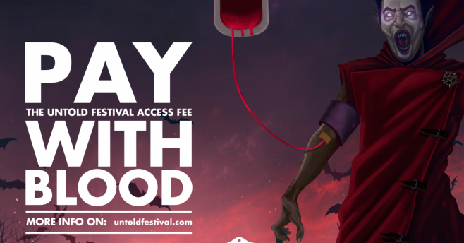 "UNTOLD, premiat pentru campania ""Pay with Blood"""
