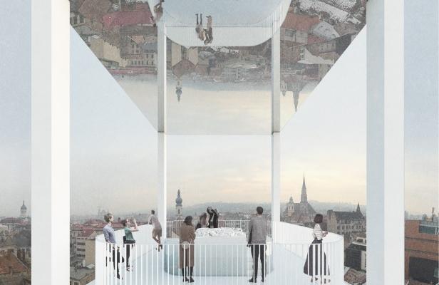 Turnul Pompierilor va fi dotat cu o oglindă uriaşă în partea superioară. FOTO / OAR