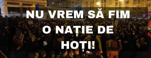 Câteva zeci de persoane au protestat împotriva corupției și a Guvernului