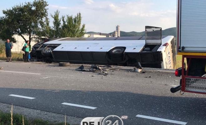 Accident de autocar la Cluj: Şapte persoane au fost rănite  sursa foto dej24.ro