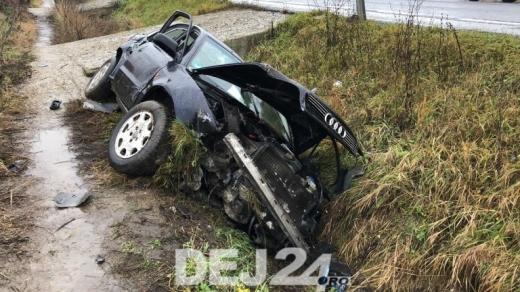 O familie a ajuns la spitalul din Dej, în urma unui accident în Mănășturel   sursa foto dej24
