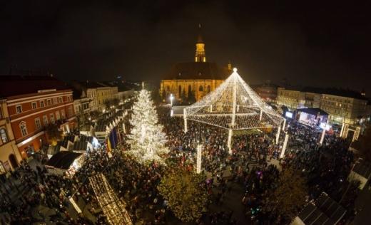 Programul de la Târgul de Crăciun din Cluj, anulat pe perioada doliului național