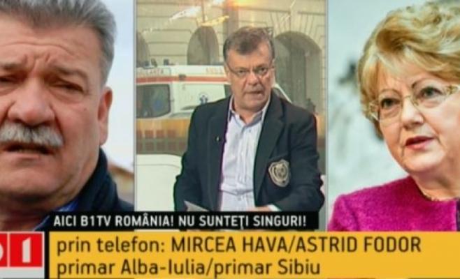 Mircea Hava (Alba Iulia) si Astrid Fodor (Sibiu) vor sa se alature cu orasele lor Aliantei Vestului. Captura video B1TV