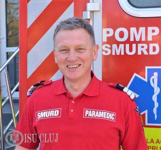 Gabriel este paramedic la SMURD Cluj de 12 ani