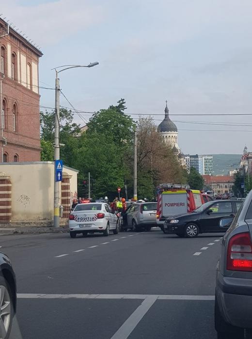 Accident în Piața Cipariu din Cluj-Napoca