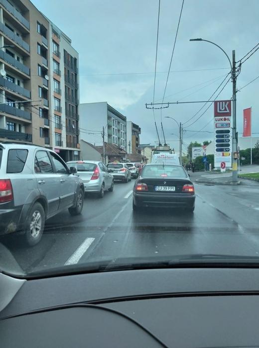 Trafic îngreunat din nou în Cluj