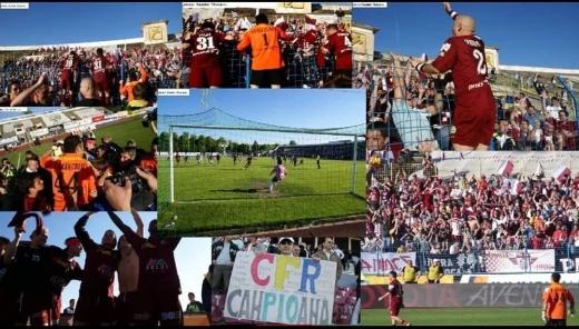 Imagini de la meciul Universitatea Cluj - CFR Cluj din 2008