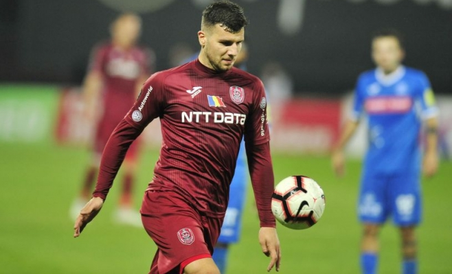 George Ţucudean în tricoul lui CFR Cluj