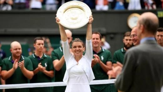 JOS PĂLĂRIA! Simona Halep, campioană în premieră la Wimbledon după ce a SPULBERAT-O pe Serena Williams!, sursă foto: Getty Images