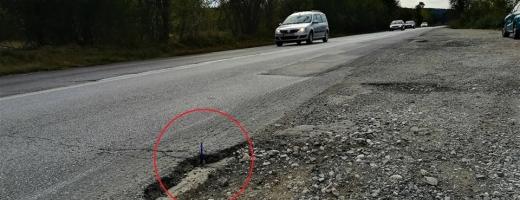 """CNAIR măsoară cu pixul crăpăturile """"autostrăzii-muzeu"""", șoferii își distrug mașinile în craterele drumului ocolitor"""