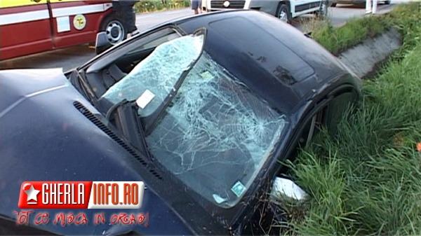 Accident la Gherla- sursa foto: gherlainfo.ro