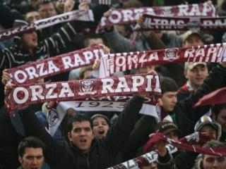 Aproximativ 1500 de fani sunt prezenţi la Stadionul Giuleşti pentru a susţine Rapidul