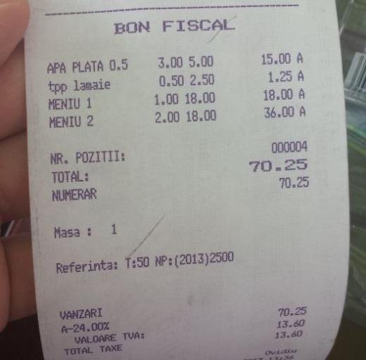 Un clujean a fost pus să-și plătească felia de lămâie din apa plată