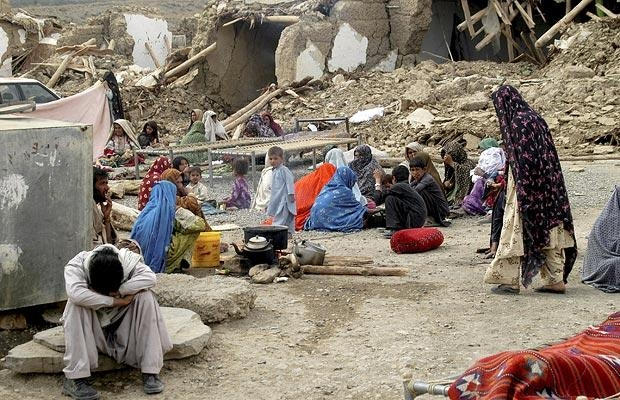 90% dintre casele din district au fost distruse - Sursa foto: telegraph.co.uk