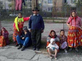 Familie de romi