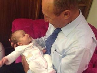 Traian Băsescu alături de nepoata sa
