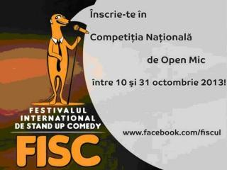 S-a dat startul Competiţiei Naţionale de Open Mic din cadrul FISC 2013
