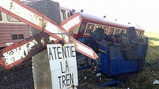 ACCIDENT FEROVIAR în județul Bistriţa-Năsăud. Sursa foto: realitatea.net