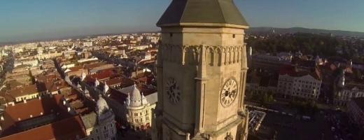 VIDEO inedit: Clujul văzut din aer!