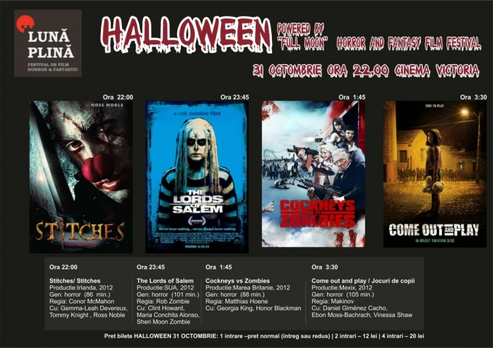 Maraton de filme horror, joi noapte la Cinema Victoria