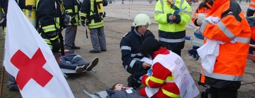 Simulare de accident aviatic spectaculoasă la Aeroportul Cluj!