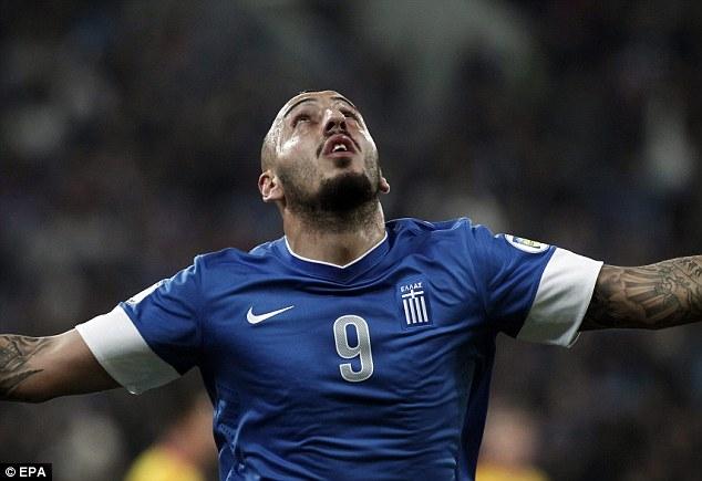 Mitroglou, pericol numărul unu al grecilor / Sursă foto: dailymail.co.uk