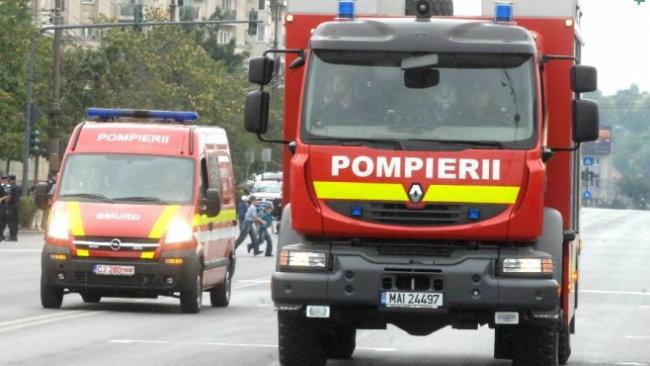 INCENDIU: O casă din Baciu a luat FOC