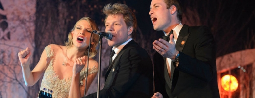 VIDEO Bon Jovi, Taylor Swift și prințul William au cântat în trio la o gală de binefacere