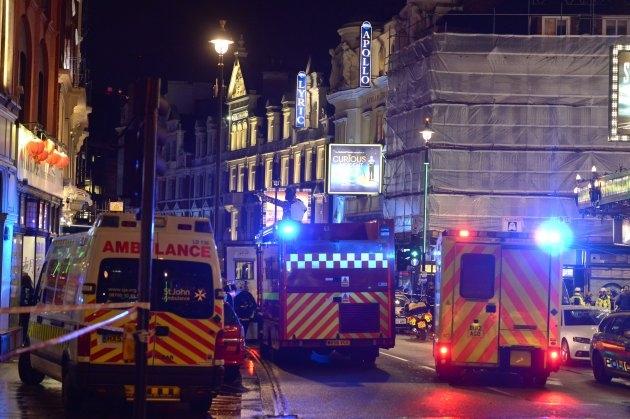 Acoperişul unui teatru din centrul Londrei s-a prăbuşit în timpul unui spectacol