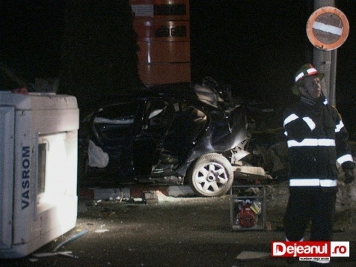 Accident la Dej. Foto: dejeanul.ro