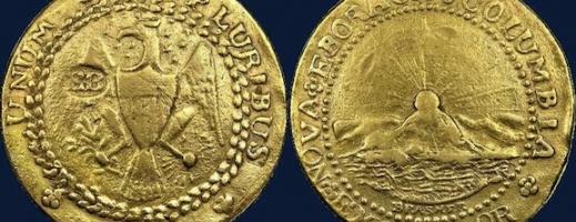 Prima monedă din aur emisă în SUA,  vândută pentru o sumă record la licitaţie
