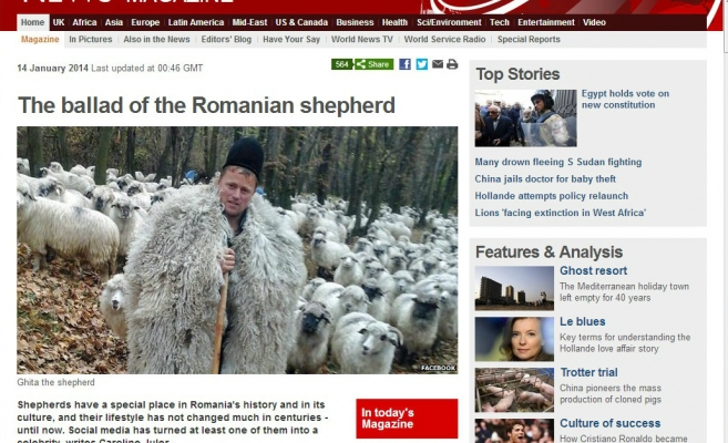 Ciobanul Ghiţă a ajuns în paginile BBC