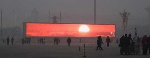 China dă RĂSĂRITUL la televizor din cauza smogului care acoperă orașele