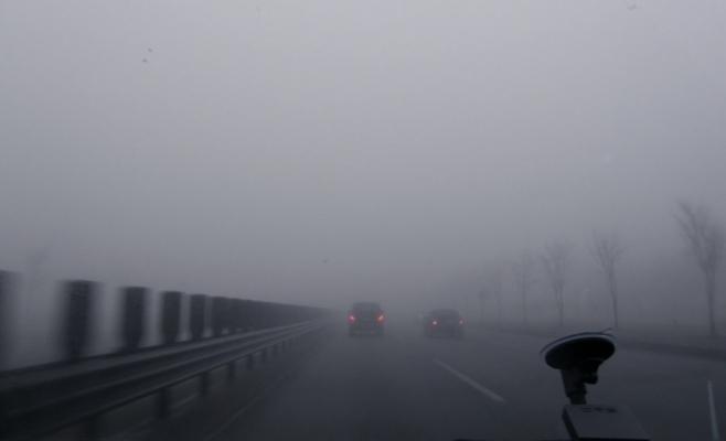 CEAȚĂ DENSĂ pe autostrada A3, între Gilău și Câmpia Turzii