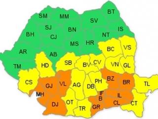Harta județelor avertizate pentru viscol